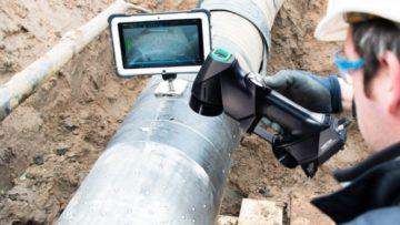 Des solutions CND pour le secteur du pétrole et du gaz avec un scanner 3D à lumière blanche